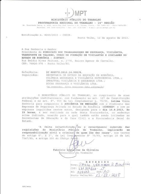 AUDIENCIA MONISTERIO PUBLICO